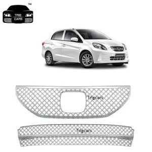 Buy Trigcars Honda Amaze New Car Front Grill Chrome Plated online