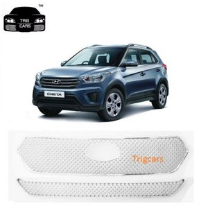 Buy Trigcars Hyundai Creta Car Front Grill Chrome Plated Online