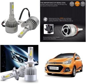 Buy Trigcars Hyundai I10 Grand Car LED Hid Head Light online