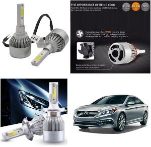 Buy Trigcars Hyundai Sonata New Car LED Hid Head Light online