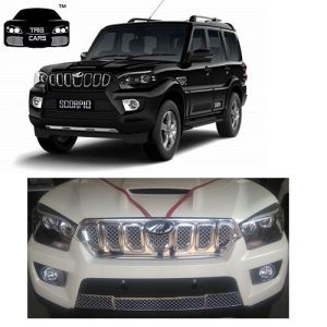 Buy Trigcars Mahindra Scorpio 2017 Car Front Grill Chrome Plated online