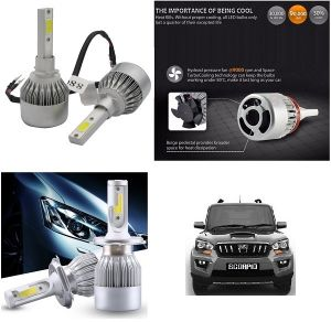 Buy Trigcars Mahindra Scorpio Old Car LED Hid Head Light online