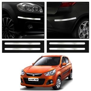 Buy Trigcars Maruti Suzuki Alto K10 Car Chrome Bumper Scratch Potection Guard Car Bluetooth online