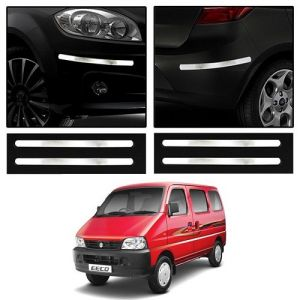 Buy Trigcars Maruti Suzuki Eeco Car Chrome Bumper Scratch Potection Guard Car Bluetooth online