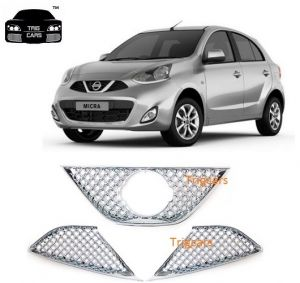 Buy Trigcars Nissan Micra Car Front Grill Chrome Plated Online