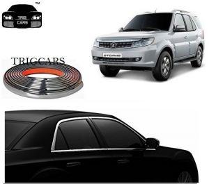 Buy Trigcars Tata Safari Strome Car Side Window Chrome Beading