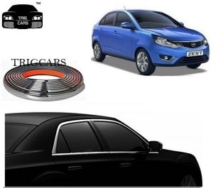 Buy Trigcars Tata Zest Car Side Window Chrome Beading Moulding Roll