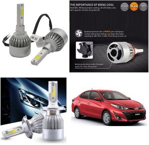Buy Trigcars Toyota Yaris Car LED Hid Head Light online