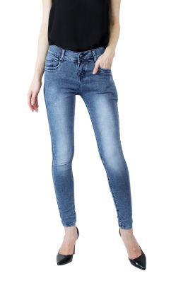 Buy Waiverson Slim Fit Women Blue Washed Jeans online