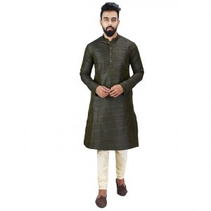 Buy Limited Edition Cotton Silk Regular Fit Self Design Kurta Pajama ( Code - Akakkuset041) online