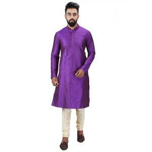 Buy Limited Edition Cotton Silk Regular Fit Self Design Kurta Pajama ( Code - Akakkuset043) online