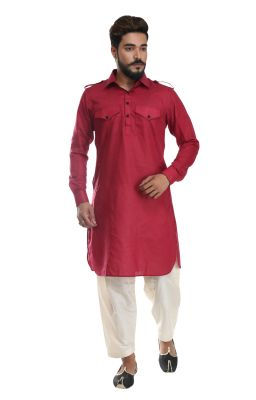 Buy Men Pathani Suit Set Cotton Silk( Code - Akakpth02) online