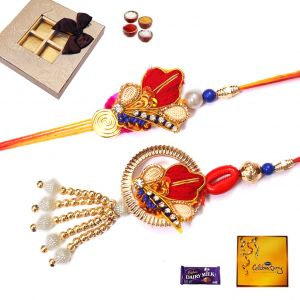 Buy New & Exclusive Design Bhaiya Bhabhi Rakhi Set (code - 28001) online