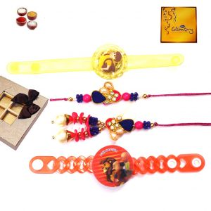 Buy Rakhi Gifts To India-new Family Rakhi Set (code - Fm001) online