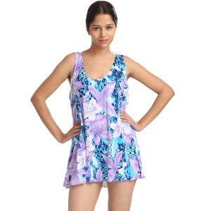 Buy Fascinating Lingerie -Multi Bold Floral Print Cut-Sleeve Swim-Cover Up online