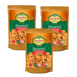 Buy Dhampur Green Jaggery Banana Chips 150gm ( Pack Of 3) online