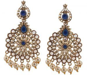1b711d031 Buy Piah Fashion Stylish Royal Blue Earrings pearl Earring for Women online
