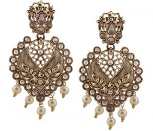 Buy Piah Fashion Chimes Stylish Party Wear High Quality Traditional Pearl Drops Chandbali Earrings  Drop Earring' online
