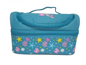 Buy Smily Kiddos | Smily Dual Slot Lunch Bag (light Blue) online