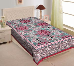 Buy Texstylers 100% Cotton Single Bed Sheet Without Pillow Cover online