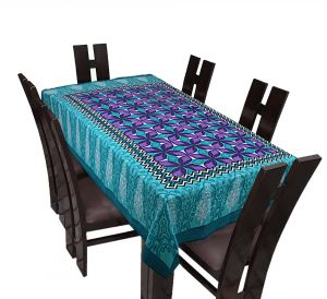 Buy TEXSTYLERS Floral Cotton 6 Seater Table Cover online