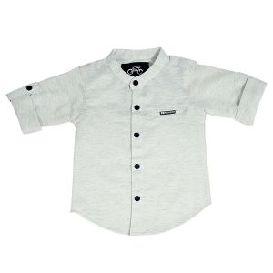 Buy Gusto Baby Boy's Solid Millanch Cotton Blend Full Sleeved Shirt online