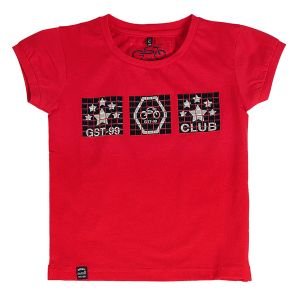 Buy Gusto Baby Boy's Red Cotton Blend Round Neck T_Shirt online