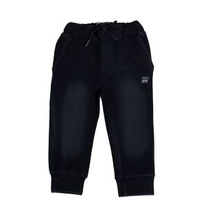 Buy Gusto Baby Boy's Black Denim Relaxed Jogger Pants online