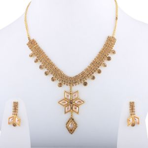 Buy Attractive Goldplated Traditional Golden Necklace set for women and girls online