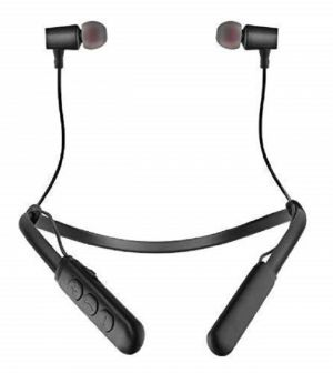 Buy Neckband Bluetooth Wireless Earphones With Built-in Woofers For Extra Bass online