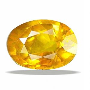 Buy Natural & Unheated Stone Yellow Sapphire 5.25 Ratti Precious Stone For Unisex (code- Cey0028) online