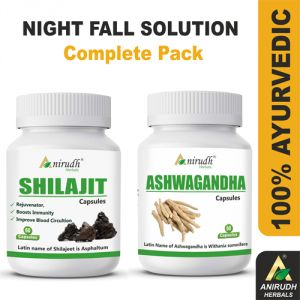 Buy Anirudh Herbals Ashwagandha 60 Caps And Shilajit 60 Caps Complete Pack For Night Fall - ( Code - Ahsh001 ) online