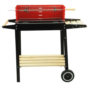 Buy Adjustable Grate Charcoal Bbq Barbecue Grill With Wheels Online