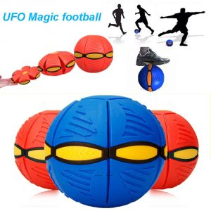 Buy Football Disc Kids Outdoor Toy Frisbee Ball Deformation Ball Throw Disc Game online