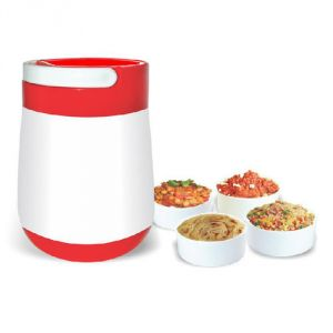 Oliveware Big Jumbo Lunch Box For Hot & Cold Food Storage Four Containers