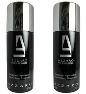 Buy Set Of 2 Azzaro Black Deodorant 200 Ml online