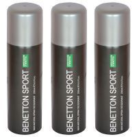Buy Set Of 3 Benetton Sports Ucb Man Natural Spray Deodorant 200 Ml online