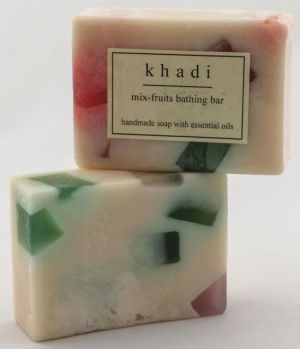Buy Khadi Handmade Soap With Essential Oils - Mixed Fruit (pack Of 2) online