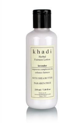 Khadi Lavender Fairness Lotion- With Sheabutter- Paraben Free-210 Ml