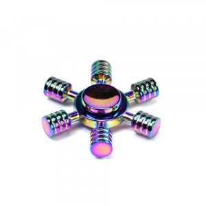 Buy 6 Stick Wheel Aluminum Fidget Spinner Toy For Autism Adult, Child Rainbow Color online