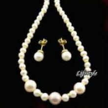 Buy Hyderabadi Fresh Water Pearl Set online
