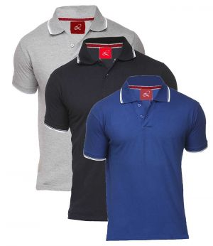 Buy Hi Lifestyles Combo Of 3 Polo Neck T Shirts online
