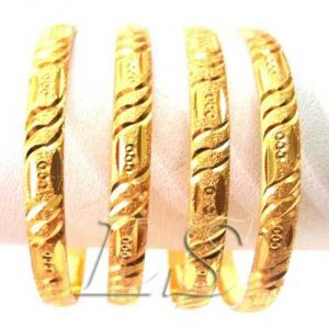 Buy 22 CRT Gold Plating Heavy Party Wear Kada Set Of 4 online