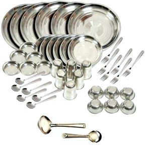 Buy Premium Quality Stainless Steel 50 PCs Dinner Set online