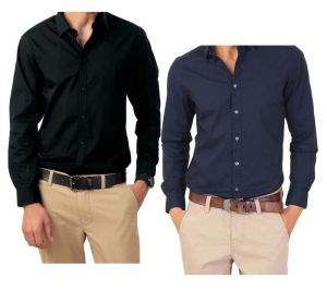 Buy Combo Of Black & Blue Full Sleeves Shirts online