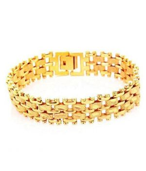 Buy Hi Lifestyles Gold Plated Adjustable Bracelet For Men---menbr1 online