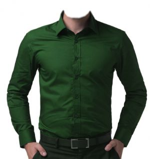 Buy The Dashing Dark Green Shirt for Men online