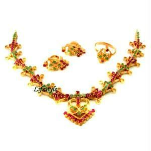 Buy Beautiful Emerald & Ruby Stones Set online