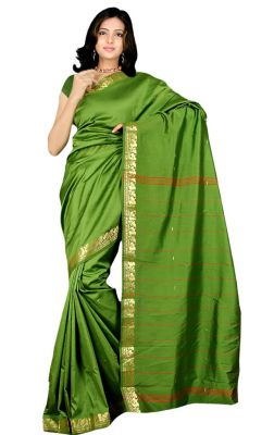 Buy Hi Lifestyles Exclusive Traditional Green Art Silk Saree online