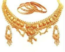 Buy Complete Elegant Gold Plated Set With 4 Kadas online